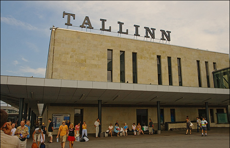 Балтийский вокзал Таллина.