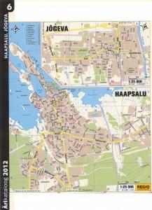 Карта Йыгева, Карта Хаапсалу. 2011 г.