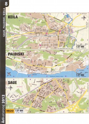 Карта Кейла, Карта Палдиски, Карта Сауэ, 2011 г.