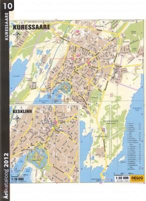 Куресааре 2011 г. карта.