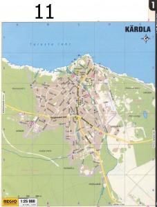 Кярдла карта 2011 г.