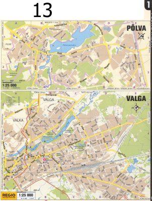 Карты городов Пылва и Валга. 2011 г.