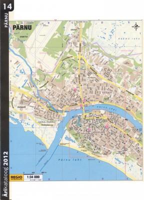 Карта Пярну 2011 г. Западная часть