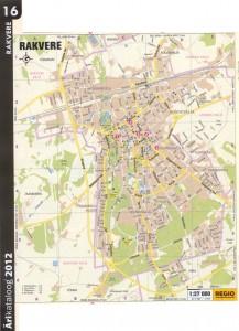 Карта города Раквере 2011 г.