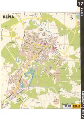 Карта города Рапла 2011 г.