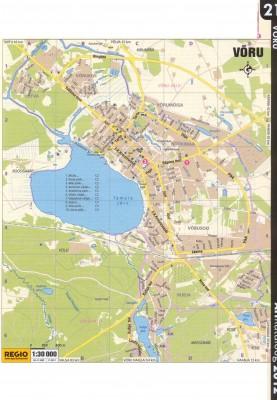 Карта города Выру  2011 г.