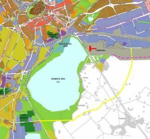 Карта части Таллина. Озеро Юлемисте