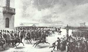 Восстание 14 декабря 1825 года на Сенатской площади.