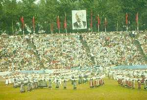 Праздник танцев на стадионе «Калев».