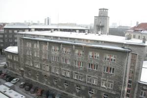 Здание пожарного депо, возведенное в 1939 году по проекту архитектора Х.Йохансона.
