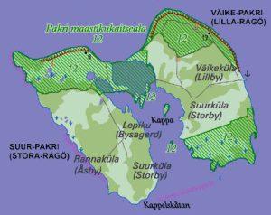 тарая карта островов Пакри