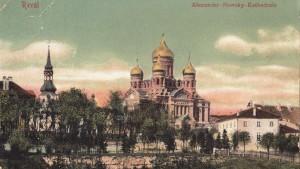 Собор Александра Невского, примерно 120 лет назад. Ревель.