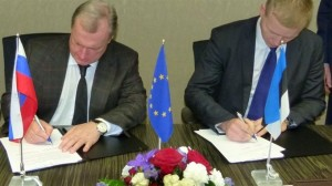 Подписание договора. Эстонско-Российские отношения.