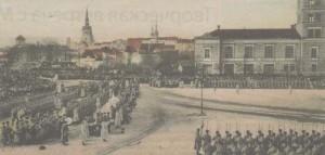 Крещенский парад на Русском рынке.