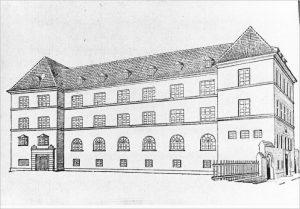 """Здание Таллиннской еврейской гимназии. Иллюстрация к статье, опубликованной газетой """"Последние известия"""" в номере за 5 февраля 1924 года."""