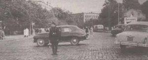Постовой на площади Выйду (ныне — Вабадузе) в начале пятидесятых годов. Возможно, сменивший на посту ставшего оперным певцом Александра Пюви.