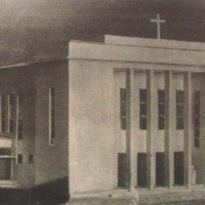 Макет здания гернгутерской церкви на улице Каупмехе.