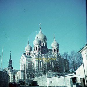 Таким был собор Александра Невского в сороковых. Таллин.