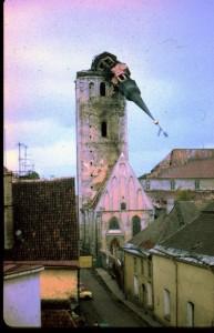 Сгорел купол церкви Нигулисте. со временем заменили. Таллин
