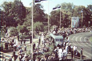 Стадион в районе Кадриорг. Вторые эстонские игры. 1939 год. Таллин