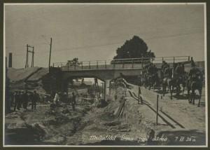 Строительство виадука на Палдиском шоссе (где поворот на ул. Техника). 1926 год.