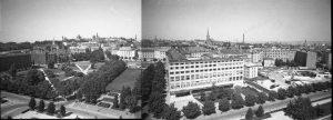 """Центральная часть Таллина. Там, где пустырь слева, был построен Культурный центр """"Сакала"""", затем снесён и выстроен """"Солярис"""""""