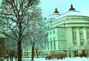 """Театр """"Эстония"""". Снежность 1939 года."""