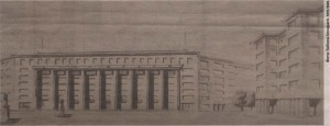 Проект нового здания Таллиннского городского банка на месте пожарной части на площади Виру.