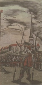 Стилизация под Средневековье от Йохана Наха, 1944 год.