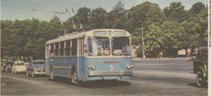 Один из первых таллиннских троллейбусов на нынешней площади Вабадузе...