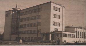 Новое здание Лендеровской гимназии незадолго до сдачи в эксплуатацию. 1935 год.