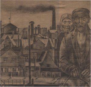 Рыбная гавань в Таллинне. Рисунок Натальи Мей, 1926 год.
