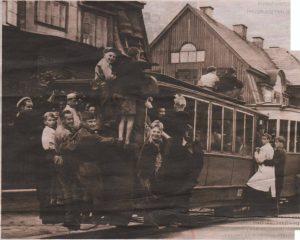Нарвское шоссе. Таллиннский трамвай в первые послевоенные месяцы.