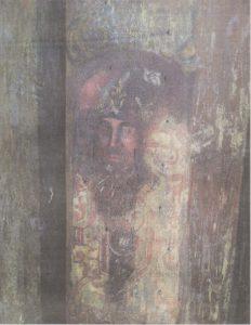 Один из сохранившихся портретов, обнаруженных реставраторами нынешним летом.