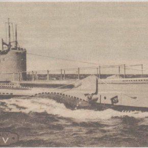 Подводная лодка «Калев». Открытка конца тридцатых годов.
