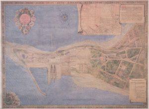 Выполненный более ста лет назад план полуострова Копли с заводами и рабочей колонией — произведение искусства сам по себе.