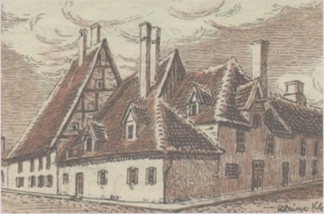 Утраченный комплекс домов на углу улиц Суур- и Вяйке-Клоостри: жилье учителей городской гимназии середины XVIII столетия.