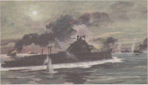 Подвиг экипажа подводной лодки «Щ-408». Картина художника И. Родионова.
