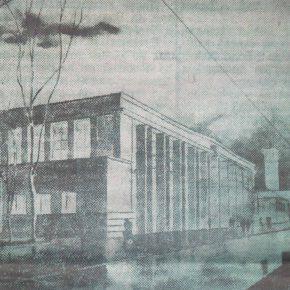 Проект торгового павильона Таллиннского центрального рынка. Иллюстрация из газеты «Советская Эстония», май 1947 года.