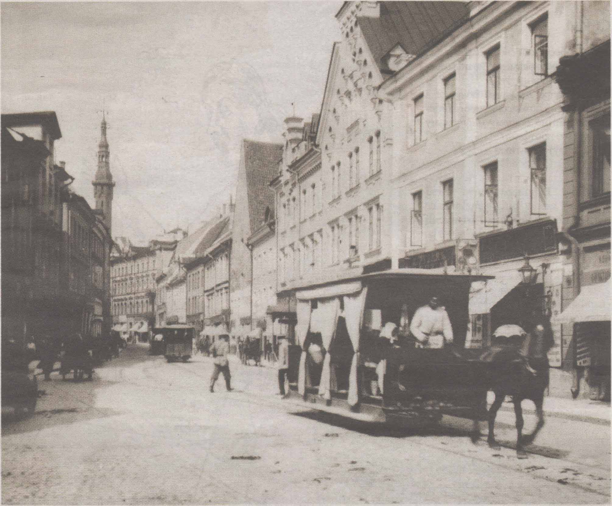 По Виру конка ходила долгие тридцать лет, а вот на другие улицы Старого города трамвай так и не допустили.