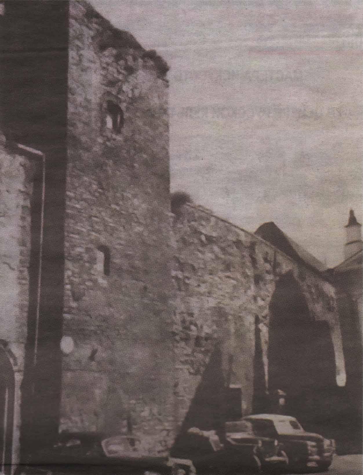 Бременская башня до реставрации. Фото пятидесятых годовпрошлого века.