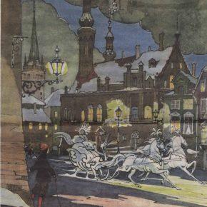 Первая встреча героев Ханса Кристиана Андерсена в интерьерах таллиннских улиц состоялась благодаря книжным иллюстрациям работы Валерия Алфеевского.