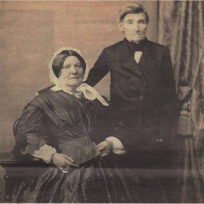 Ратман Якоб Иоганн фон Гонзиор и его супруга Амалия Констанция. Снимок шестидесятых годов позапрошлого столетия.