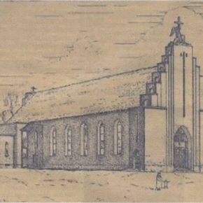 Церковь прихода Вефиль на первоначальном проекте 1935 года...