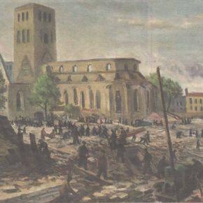 Восстановительные работы на улицы Харью весной 1948 года глазами живописца Агу Пихельга.
