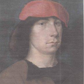 «Портрет молодого человека» кисти Зиттова, в котором некоторые исследователи склонны видеть автопортрет мастера.