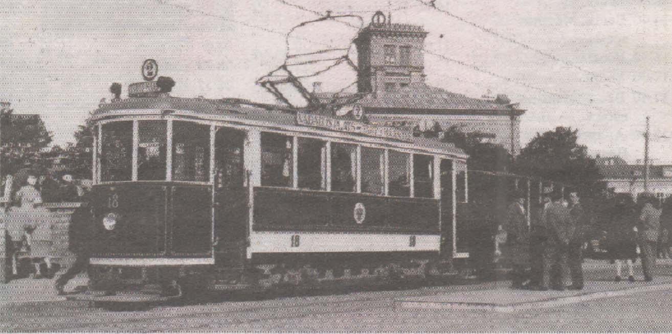 Электрический трамвай, Тартуское шоссе, 1928 год.