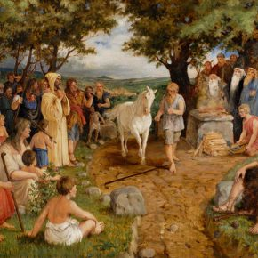 Испытание Теодориха. Картина А. Бауманиса «Конь судьбы» (1887)