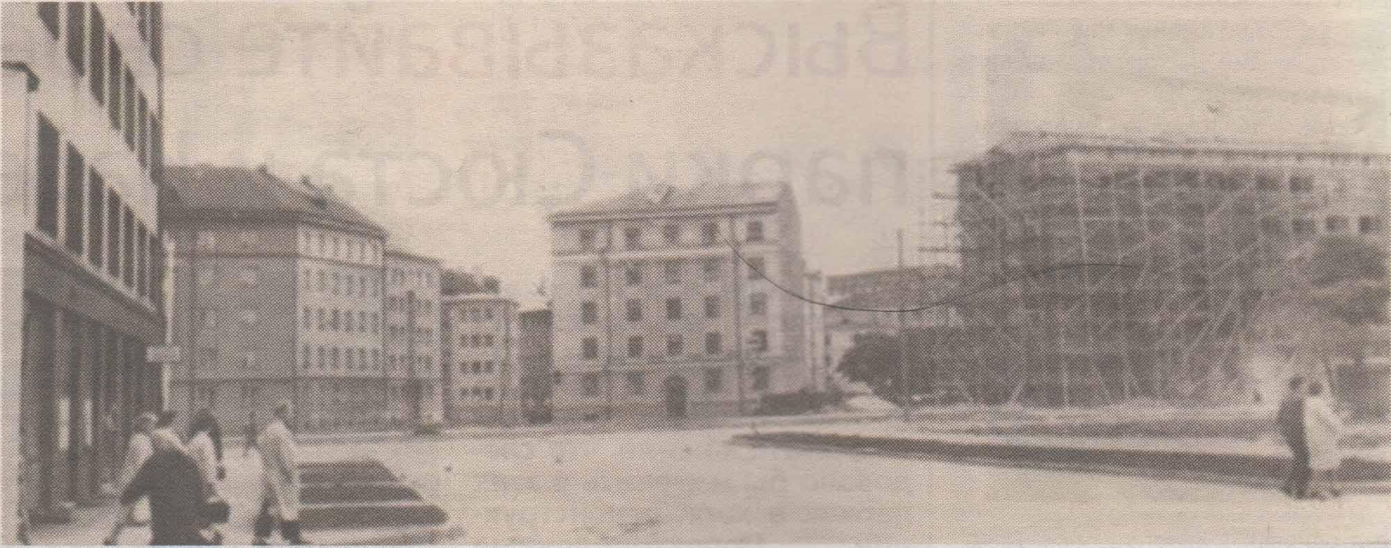 Формирование ансамбля площади Компасси. Начало шестидесятых годов.