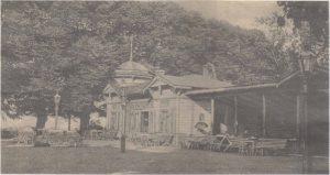 Летний ресторан на бывшем Сконеском бастионе. Открытка начала XX века.